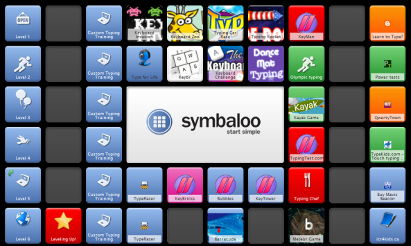 symbaloo keyboarding sample